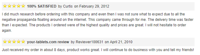 Reviews for Your Tablets