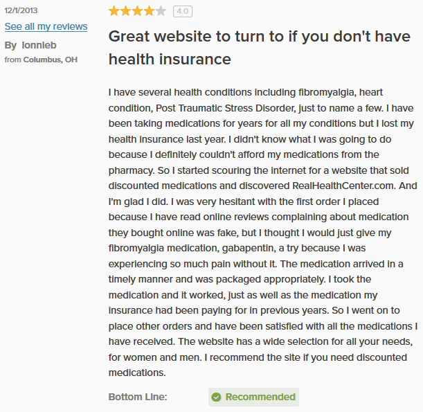 Real Health Center Review